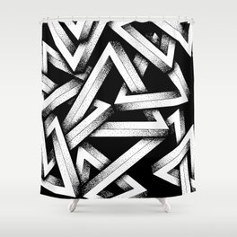 Impossible Penrose Triangles Shower Curtain