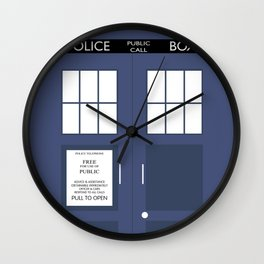 Smaller On The Outside Tardis Wall Clock