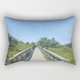 Blue Sky Bridge Rectangular Pillow