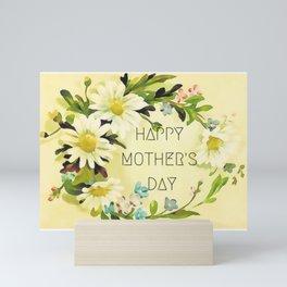 Happy Mother's Day Modern Vintage Floral Mini Art Print
