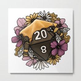 Honeycomb D20 Tabletop RPG Gaming Dice Metal Print