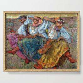 Edgard Degas Russian Dancers Serving Tray