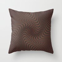 leather Throw Pillows featuring In leather by Laake-Photos