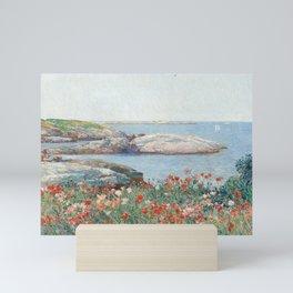 Poppies, Isles of Shoals 1891 by Childe Hassam Mini Art Print