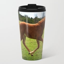 Little Running Man (horse) Travel Mug