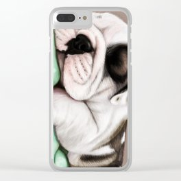 Sleeping Puppy Clear iPhone Case