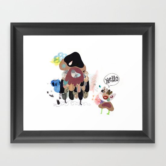 SayHello Framed Art Print