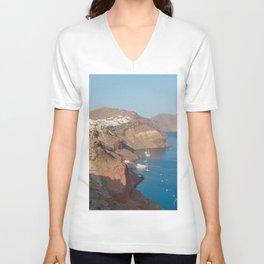 Santorini Caldera Unisex V-Neck