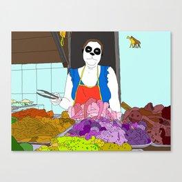 Butchin'  Canvas Print