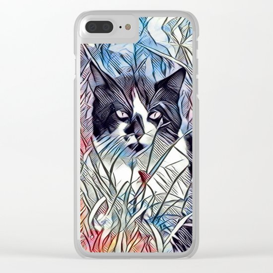 Here Kitty Kitty Clear iPhone Case