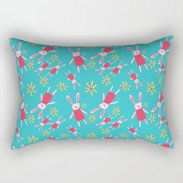 Bunnies 'n' Daisies Rectangular Pillow