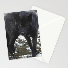 River wolf Stationery Cards