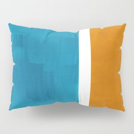 Rothko Minimalist Mid Century Modern Vintage Colorful Pop Art Colorfields Dark Teal Yellow Ochre Pillow Sham