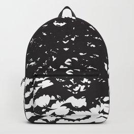 Halloween Bat Black and White Pattern Backpack