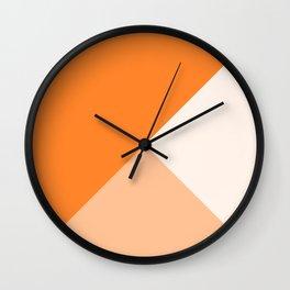Trinity Color Block Orange Tumeric  FF842A Wall Clock