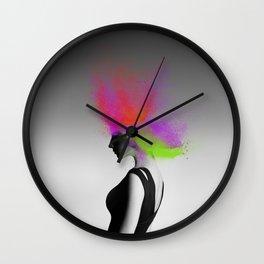 Powder Head Red Purple Green Wall Clock