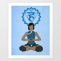 Korra Meditation - Throat Chakra Art Print