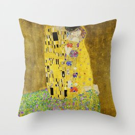 The Kiss, Gustav Klimt Throw Pillow