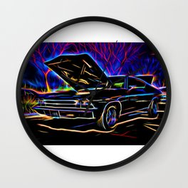1969 Neon Chevy Chevelle Chevrolet Wall Clock