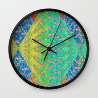 diamonds Wall Clocks featuring Diamonds by elikourY