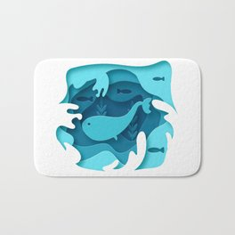 Blue Whale 3D Bath Mat
