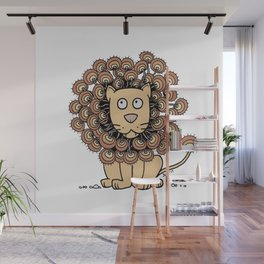 A Lion's Mane yellow Wall Mural