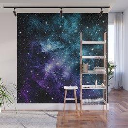 Teal Purple Galaxy Nebula Dream #1 #decor #art #society6 Wall Mural