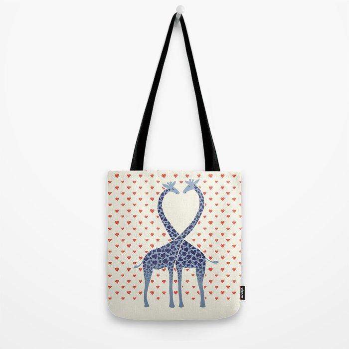 Giraffes in Love - a Valentine's Day illustration Tote Bag