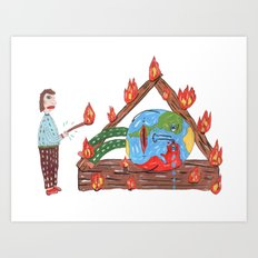 Mundinho - Burn Art Print