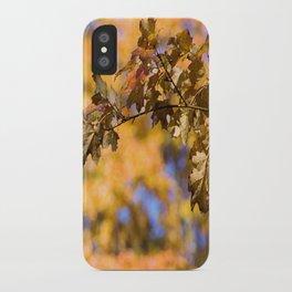 Autumn Orange Backdrop iPhone Case