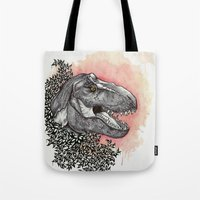 dinosaur Tote Bags featuring Dinosaur by Gemma Goode