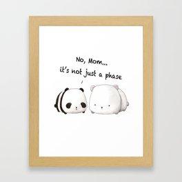 Emo Panda Framed Art Print