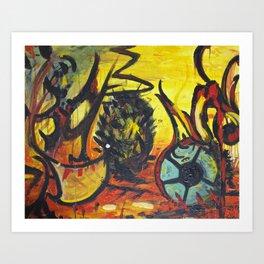 Death of a Kiwi Art Print