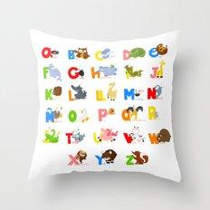 ABC (spanish) Throw Pillow