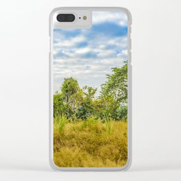 Meadow Tropical Landscape Scene, Guayaquil, Ecuador Clear iPhone Case