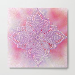 bright and sizzling lace star Metal Print