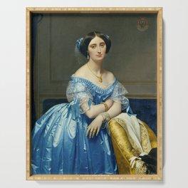 Princesse de Broglie - Jean Auguste Dominique Ingres Serving Tray