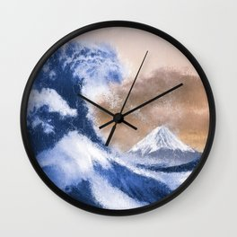 The Great Wave Inspired - Oil Painting Wall Clock