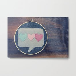 Three Heart Hoop Art Metal Print