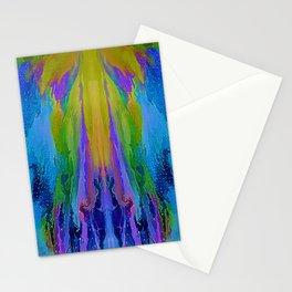 Indigo and Azure Fantasy Painting Stationery Cards
