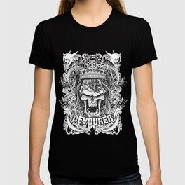 Devourer Evil Skull Wearing Crown T-shirt