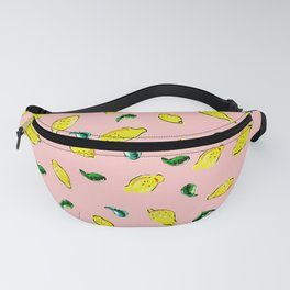 Watercolor Lemons Pink #homedecor #spring #watercolor Fanny Pack