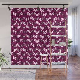 Footsteps in the Sand // Wine Wall Mural