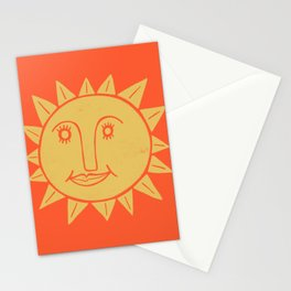 Cheerful Happy Sunshine Numero 2 Red Stationery Cards