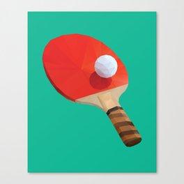 Ping Pong Paddle polygon art Canvas Print