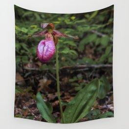 Wild Lady Slipper Flower Wall Tapestry