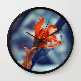 Ginger Flower Wall Clock