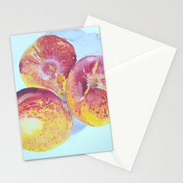 Nectarines Watercolor Painting Stationery Cards