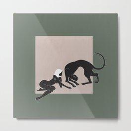 Panther Woman Metal Print