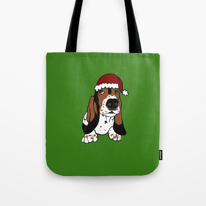 A Basset Full of Christmas Tote Bag